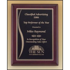 Rosewood Wave Accented Plaque